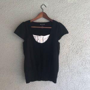 INC International Concepts | Black Knit Top